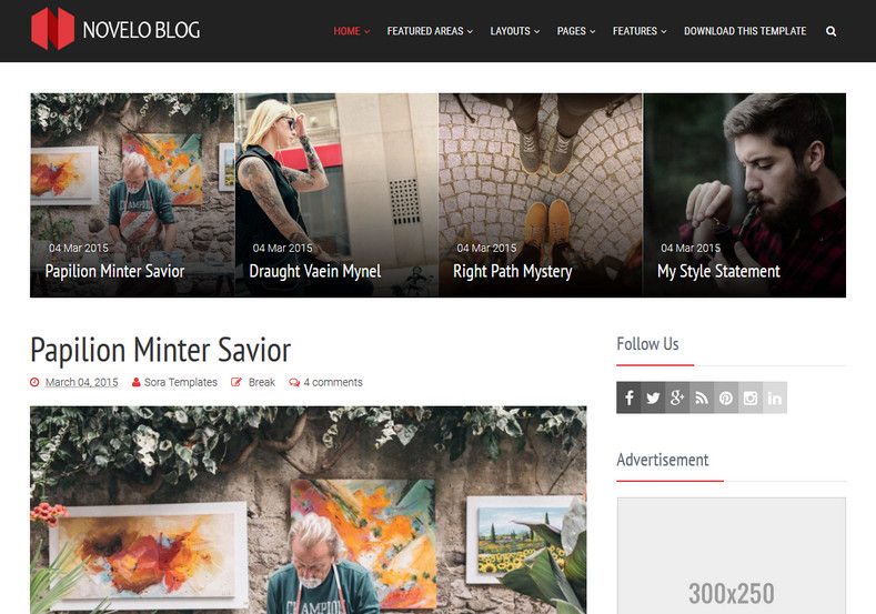 Novelo Blog Blogger Template. Blogger template designed by sora templates for blogger user. This template has ads ready and responsive features. Novelo Blog Blogger Template.