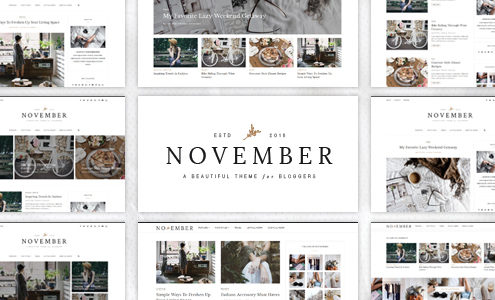 November - A WordPress Blog Theme