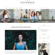 November Minimal Blogger Templates