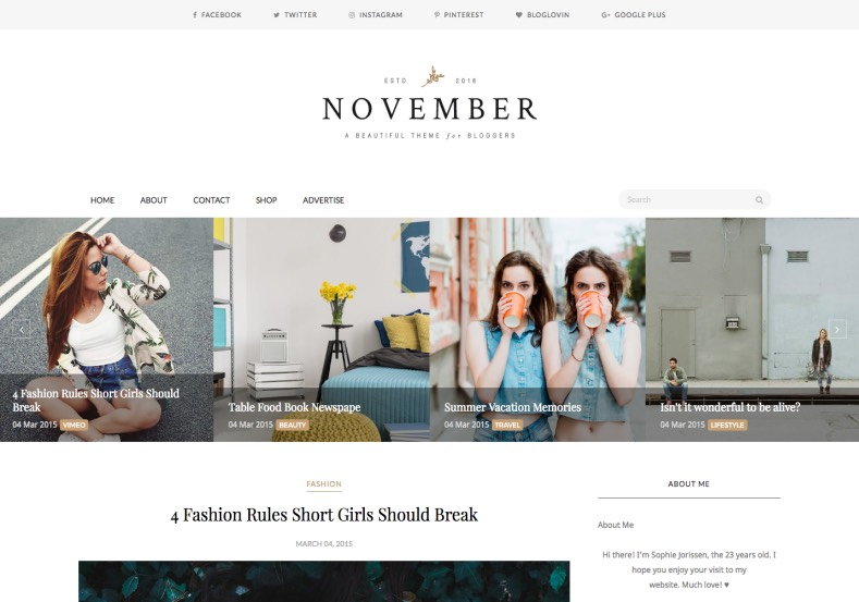 November Minimal Blogger Template Best free blogger templates 2017 with minimalist design to attract your blog audience. Download and install November Minimal Blogger Template on your blogger.