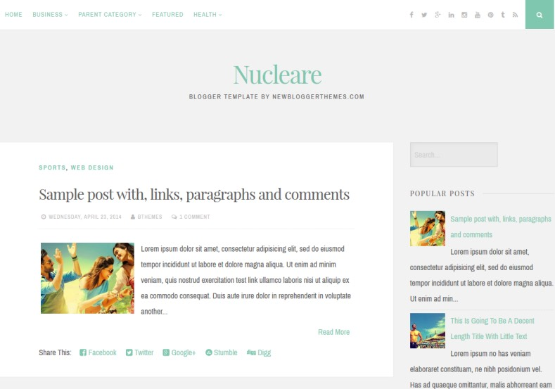 Nucleare Simple Blogger Template. free blogger templates 2015