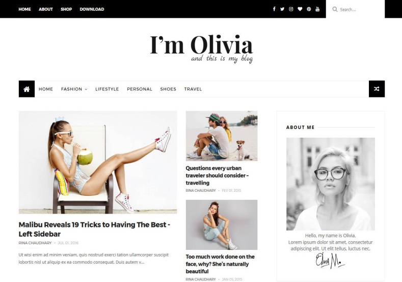 Olivia Clean Blogger Template. Two versions of this available here. Download free blogger templates with lot features as you like from gooyaabi templates. Olivia Clean Blogger Template.