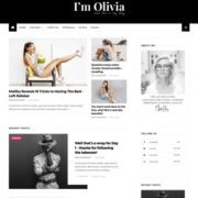 Olivia Dark Blogger Templates