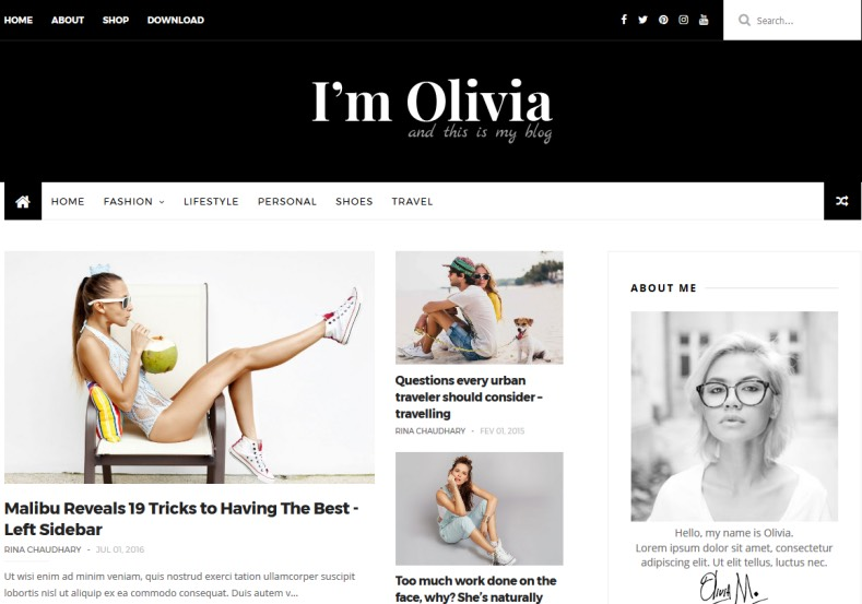 Olivia Dark Blogger Template. This another version of this template. Get high quality free blogger templates 2016 for get brand new blogger blog. Olivia Dark Blogger Template.