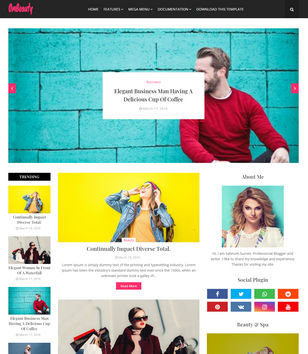 OmBeauty Blogger Templates