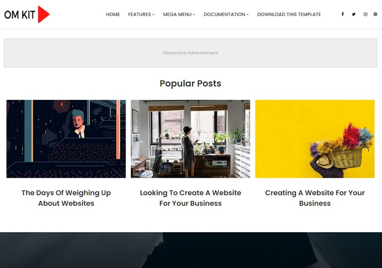 OmKit Free Blogger Template
