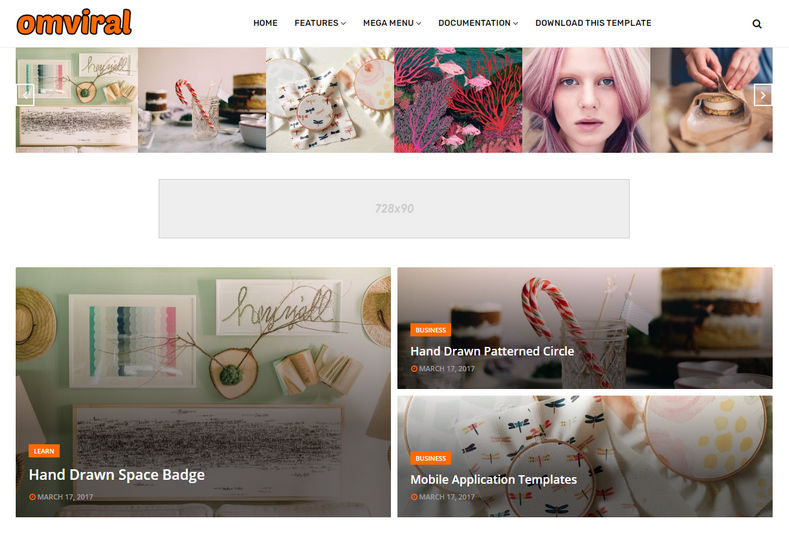 OmViral Blogger Template is a simple and elegant blogging blogspot theme with great features and out of the box design.
