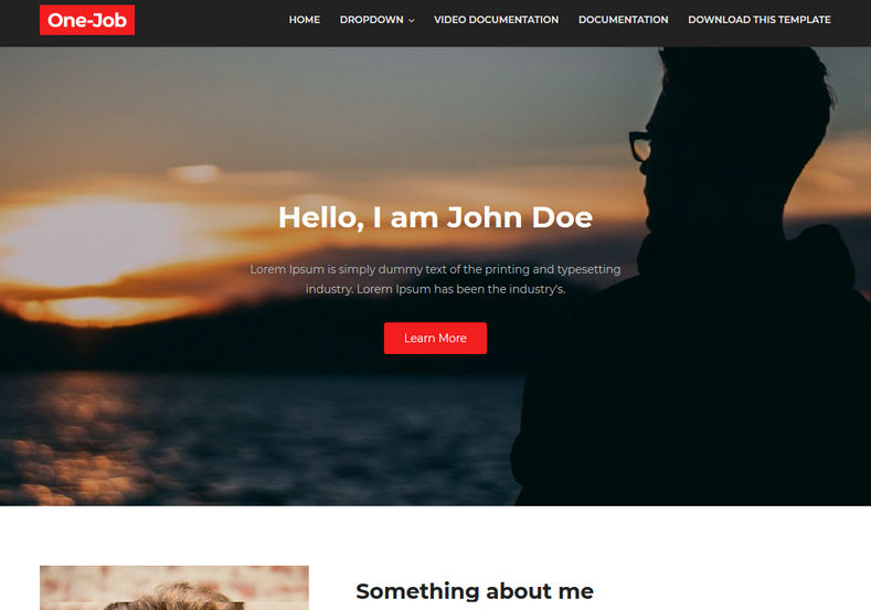 OneJob Blogger Template is a one of the best portfolio minimal responsive of 2018 with very special look and target audience