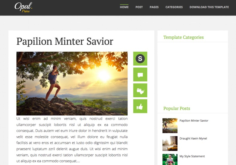 Opal Responsive Blogger Template. Blogger Templates 2015, free blogger templates. blogspot themes