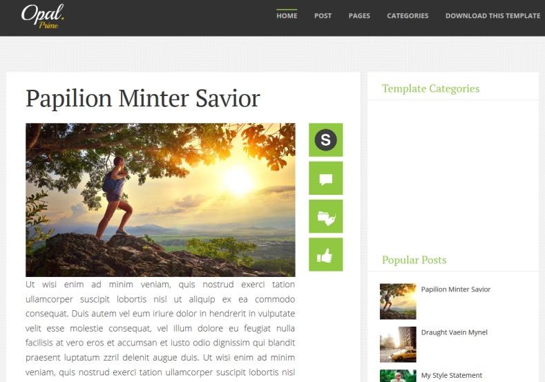 Opal Responsive Blogger Template. Blogger Templates 2015, free blogger templates. blogspot themes