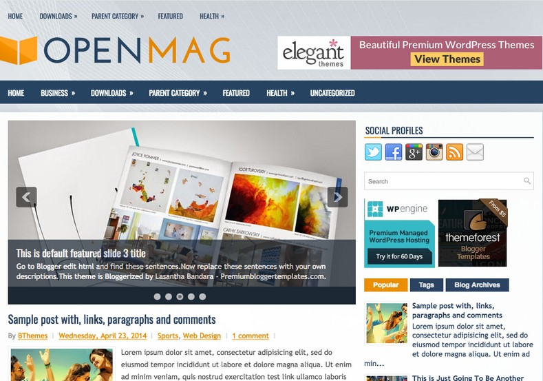 OpenMag Blogger Template