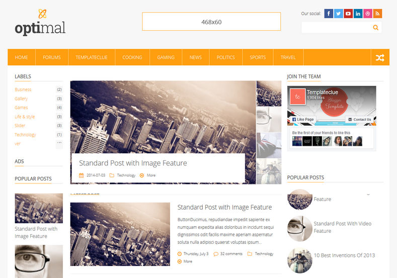 Optimal Blogger Template best quality blogspot themes for renovatng blogger templates 2018 Optimal Blogger Template