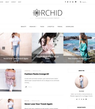 Orchid Fashion Blogger Templates