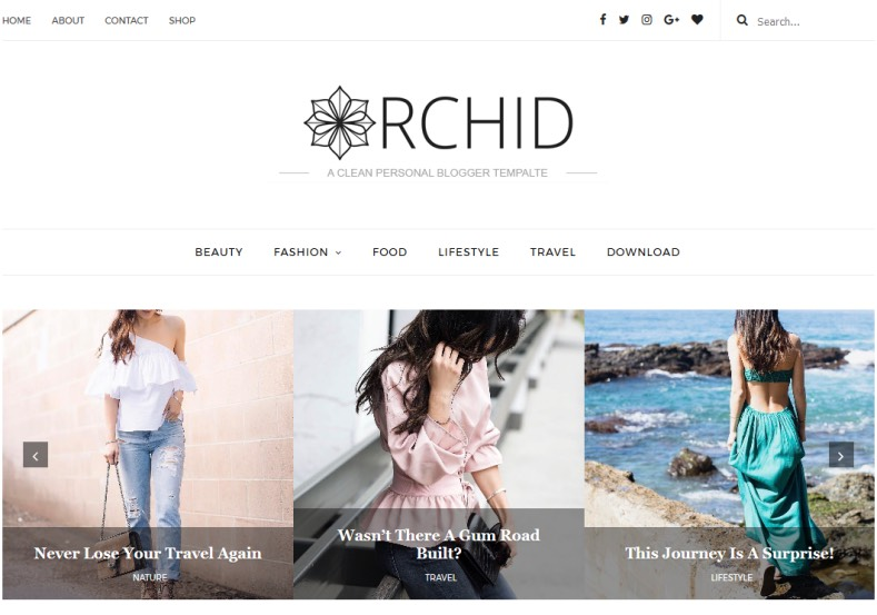 Orchid Fashion Blogger Template 2017 free blogger themes created fashion photography blogs Orchid Fashion Blogger Template