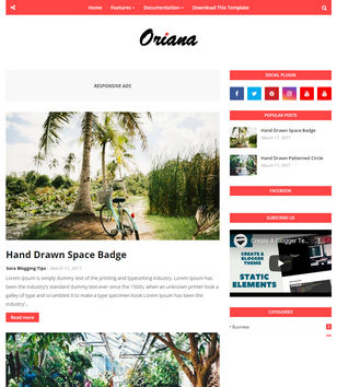 Oriana Blogger Templates