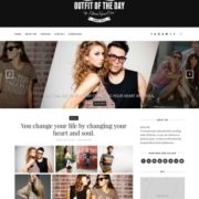 Outfit Dark Blogger Templates