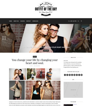Outfit Light Blogger Templates