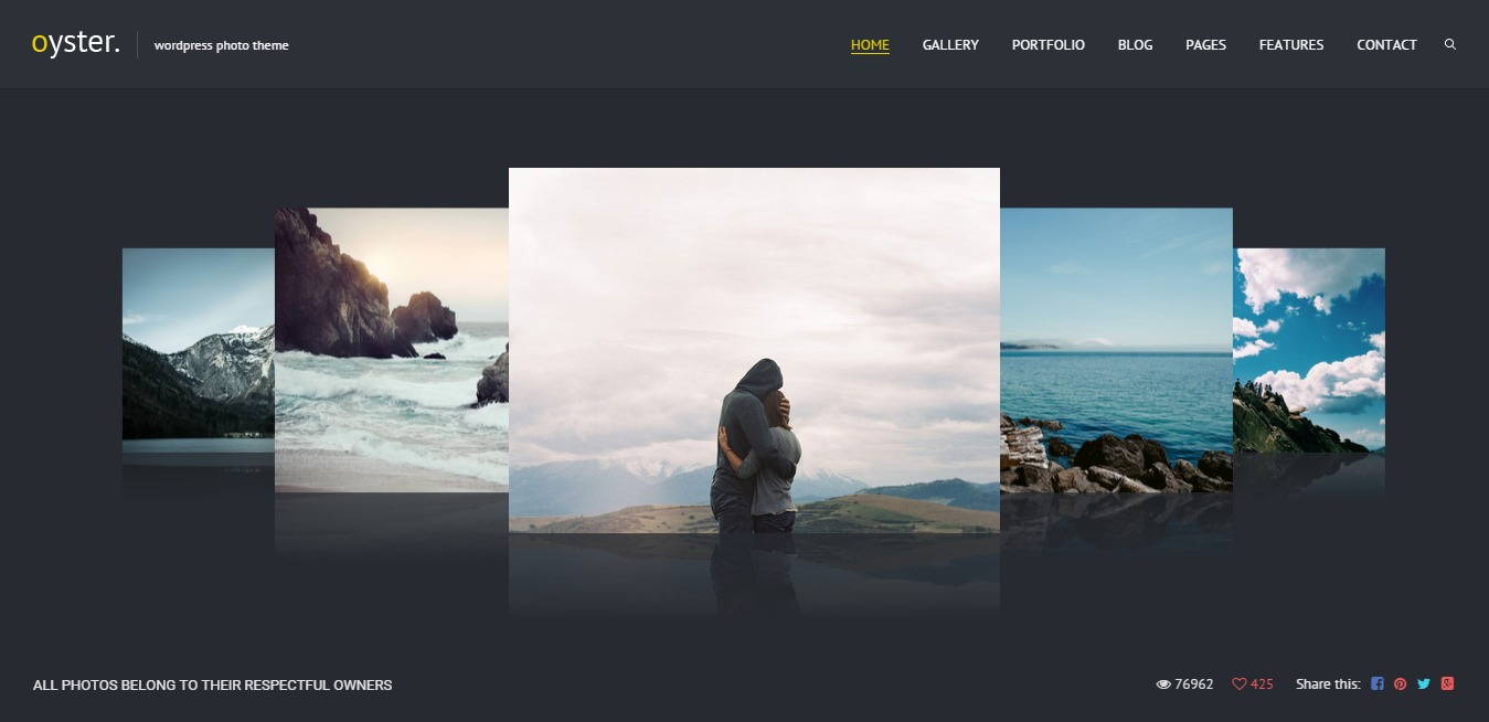 Oyster - Creative Photo WordPress Theme
