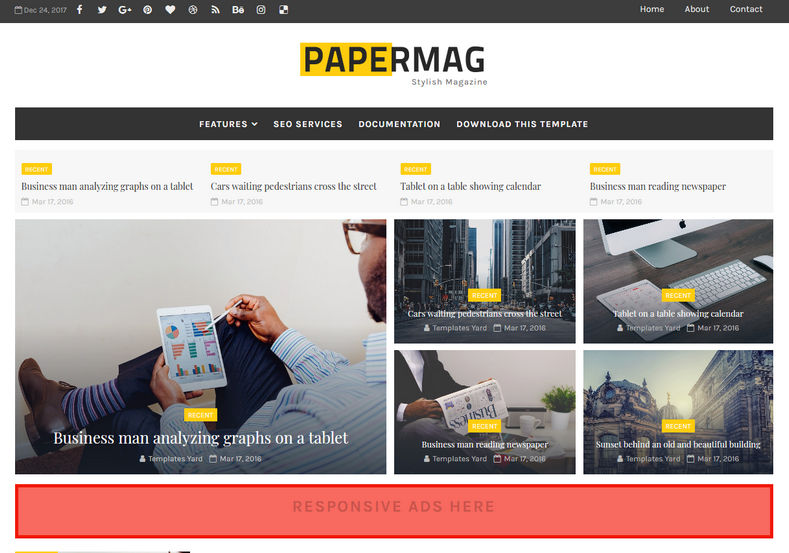 PaperMag Blogger Template is a stylish and fast loading blogger template with magazine and simple look features and most important is it is 100% seo friendly