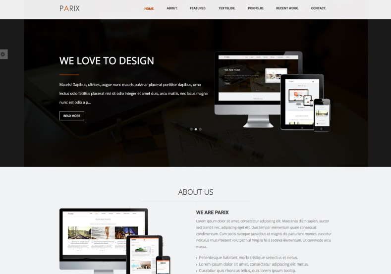 Parix Blogger Template