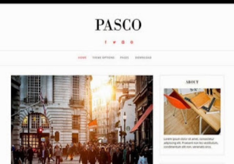 Pasco Responsive Blogger Template. Blogger Themes. Free Blogspot templates for your blogger blog. Best suitable for news blog templates. Best Ads ready blogspot templates help for add adsense ad code and easily showing adsence ads in your blog. Adapted from WordPress templates are converted from WordPress themes. It is help for take your rich. Blogger magazine template specially designed for magazine blogs. The writers can utilize this themes for take blog attractive to users. Elegant themes are more used themes in most of the blogs. Use minimalist blog templates for rich look for your blog. Free premium blogger themes means, themes authors release two types of themes. One is premium another one is free. Premium templates given for cost but free themes given for no cost. You no need pay From California, USA. $10 USD, or $20 USD and more. But premium buyers get more facilities from authors But free buyers. If you run game or other animation oriented blogs, and you can try with Anime blog templates. Today the world is fashion world. So girls involve to the criteria for make their life fashionable. So we provide fashion blogger themes for make your fashionable. News is most important concept of the world. Download news blogger templates for publishing online news. You can make your blog as online shopping store. Get Online shopping store blogger template to sell your product. Navigation is most important to users find correct place. Download drop down menu, page navigation menu, breadcrumb navigation menu and vertical dropdown menu blogspot themes for free. Google Guide to blogging tips and tricks for bloggers. Google bloggers can get blogspot trick and tips for bloggers. Blog templates portfolio professional blogspot themes, You can store your life moments with your blogs with personal pages templates. Video and movie blogs owners get amazing movie blog themes for their blogs. Business templates download. We publish blogger themes for photographers. Photographers easily share photos via photography blog themes. St valentine Christmas Halloween templates. Download Slideshow slider templates for free. Under construction coming soon custom blogspot template. Best beautiful high quality Custom layouts Blog templates from templateism, SoraTemplates, templatetrackers, simple, cute free premium professional unique designs blog themes blogspot themes. Seo ready portfolio anime fashion movie movies health custom layouts best download blogspot themes simple cute free premium professional unique designs xml html code html5.