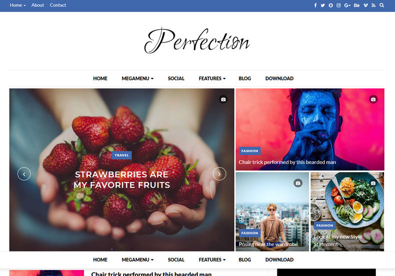 Perfection Blogger Template is a perfect blogspot theme for newspaper and magazine bloggers and it is 100% responsive as well as fast loading