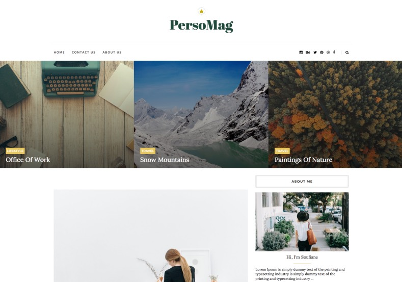 PersoMag Blogger Template. Specially designed blogger templates 2017 for personal and magazine blogger blogs. Get new readers and keep stay your existing readers on your blog. PersoMag Blogger Template.