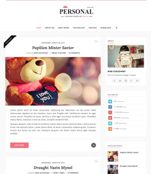 Personal Clean Blogger Templates