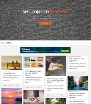 Personal Mag Responsive Blogger Templates