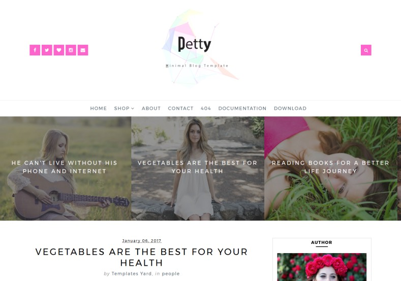 Petty Blogger Template. Very pretty blogger themes for renovate your blogger blogging blog to get more audience. Template colored with pink that is attract your blog readers. Petty Blogger Template.