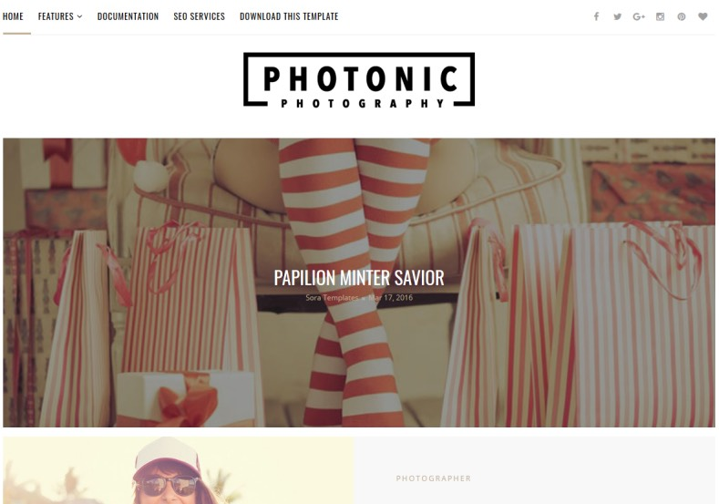 Photonic Blogger Template. Download and renovate blogspot blog website with blogger themes 2017. Photographers and creative workers can use this Photonic Blogger Template