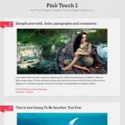 Pink Touch 2 Responsive Blogger Templates