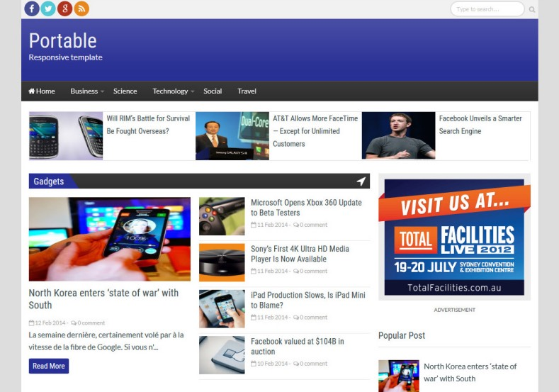 Portable Responsive Blogger Template Free Templates Blog Professional