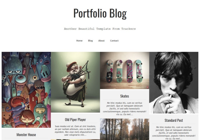 Portfolio Blog Responsive Blogger Template 2014 Free Download