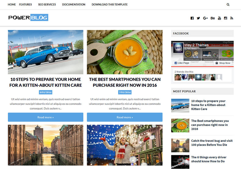 Power Blog Blogger Template is a simple and professional blogspot theme with clear and cyrstal design with added advantage of fast loading speed