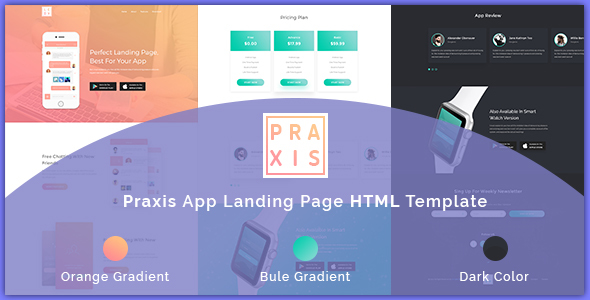Praxis | App Landing Page