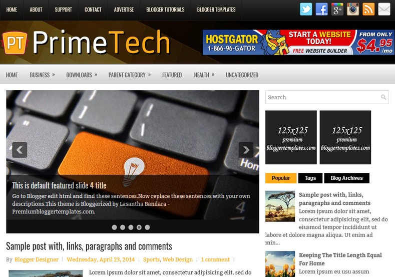 PrimeTech Blogger Template. Blogger Themes. Free Blogspot templates for your blogger blog. Best suitable for news blog templates. Ads ready blogspot templates help for add adsense ad code and easily showing adsence ads in your blog. Adapted from WordPress templates are converted from WordPress themes. It is help for take your rich. Blogger magazine template specially designed for magazine blogs. The writers can utilize this themes for take blog attractive to users. Elegant themes are more used themes in most of the blogs. Minimalist blog templates. Free premium blogger themes means, themes authors release two types of themes. One is premium another one is free. Premium templates given for cost but free themes given for no cost. You no need pay From California, USA. $10 USD, or $20 USD and more. But premium buyers get more facilities from authors But free buyers. If you run game or other animation oriented blogs, and you can try with Anime blog templates. Today the world is fashion world. So girls involve to the criteria for make their life fashionable. So we provide fashion blogger themes for make your fashionable. News is most important concept of the world. Download news blogger templates for publishing online news. You can make your blog as online shopping store. Get Online shopping store blogger template to sell your product. Navigation is most important to users find correct place. Download drop down menu, page navigation menu, breadcrumb navigation menu and vertical dropdown menu blogspot themes for free. Google Guide. Blogging tips and Tricks for bloggers. Google bloggers can get blogspot trick and tips for bloggers. Blog templates portfolio professional blogspot themes, You can store your life moments with your blogs with personal pages templates. Video and movie blogs owners get amazing movie blog themes for their blogs.  Business templates download. We publish blogger themes for photographers.  Photographers easily share photos via photography blog themes. St valentine Christmas Halloween templates. Download Slideshow slider templates for free.  Under construction coming soon custom blogspot template. Best beautiful high quality Custom layouts Blog templates from templateism, soratemplates, templatetrackers, simple, cute free premium professional unique designs blog themes blogspot themes. Seo ready portfolio anime fashion movie movies health custom layouts best download blogspot themes simple cute free premium professional unique designs xml html code html5.