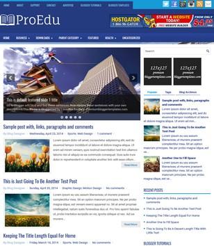 ProEdu Blogger Templates