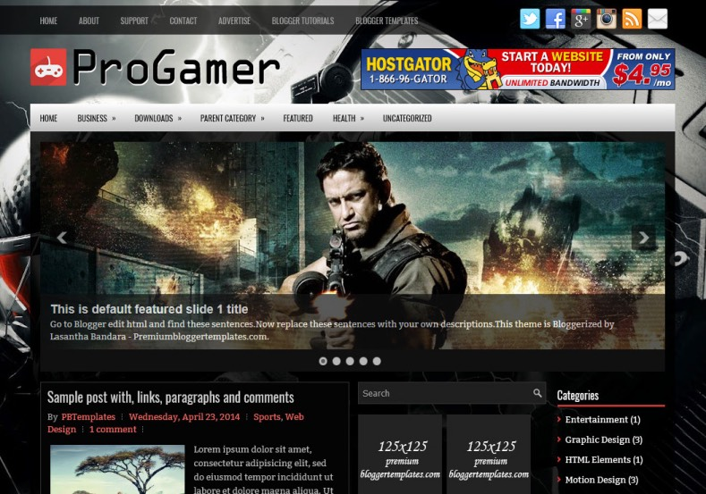 ProGamer Blogger Template. Blogger Themes. Best suitable for news blog templates. Ads ready blogspot templates help for add adsense ad code and easily showing adsence ads in your blog. Adapted from WordPress templates are converted from WordPress themes. It is help for take your rich. Blogger magazine template specially designed for magazine blogs. The writers can utilize this themes for take blog attractive to users. Elegant themes are more used themes in most of the blogs. Minimalist blog templates. Free premium blogger themes means, themes authors release two types of themes. One is premium another one is free. Premium templates given for cost but free themes given for no cost. You no need pay From California, USA. $10 USD, or $20 USD and more. But premium buyers get more facilities from authors But free buyers. If you run game or other animation oriented blogs, and you can try with Anime blog templates. Today the world is fashion world. So girls involve to the criteria for make their life fashionable. So we provide fashion blogger themes for make your fashionable. News is most important concept of the world. Download news blogger templates for publishing online news. You can make your blog as online shopping store. Get Online shopping store blogger template to sell your product. Navigation is most important to users find correct place. Download drop down menu, page navigation menu, breadcrumb navigation menu and vertical dropdown menu blogspot themes for free. Google Guide. Blogging tips and Tricks for bloggers. Google bloggers can get blogspot trick and tips for bloggers. Blog templates portfolio professional blogspot themes, You can store your life moments with your blogs with personal pages templates. Video and movie blogs owners get amazing movie blog themes for their blogs. Business templates download. We publish blogger themes for photographers. Photographers easily share photos via photography blog themes. St valentine Christmas Halloween templates. Download Slideshow slider templates for free. Under construction coming soon custom blogspot template. Best beautiful high quality Custom layouts Blog templates from templateism, SoraTemplates, templatetrackers, simple, cute free premium professional unique designs blog themes blogspot themes. Seo ready portfolio anime fashion movie movies health custom layouts best download blogspot themes simple cute free premium professional unique designs xml html code html5.