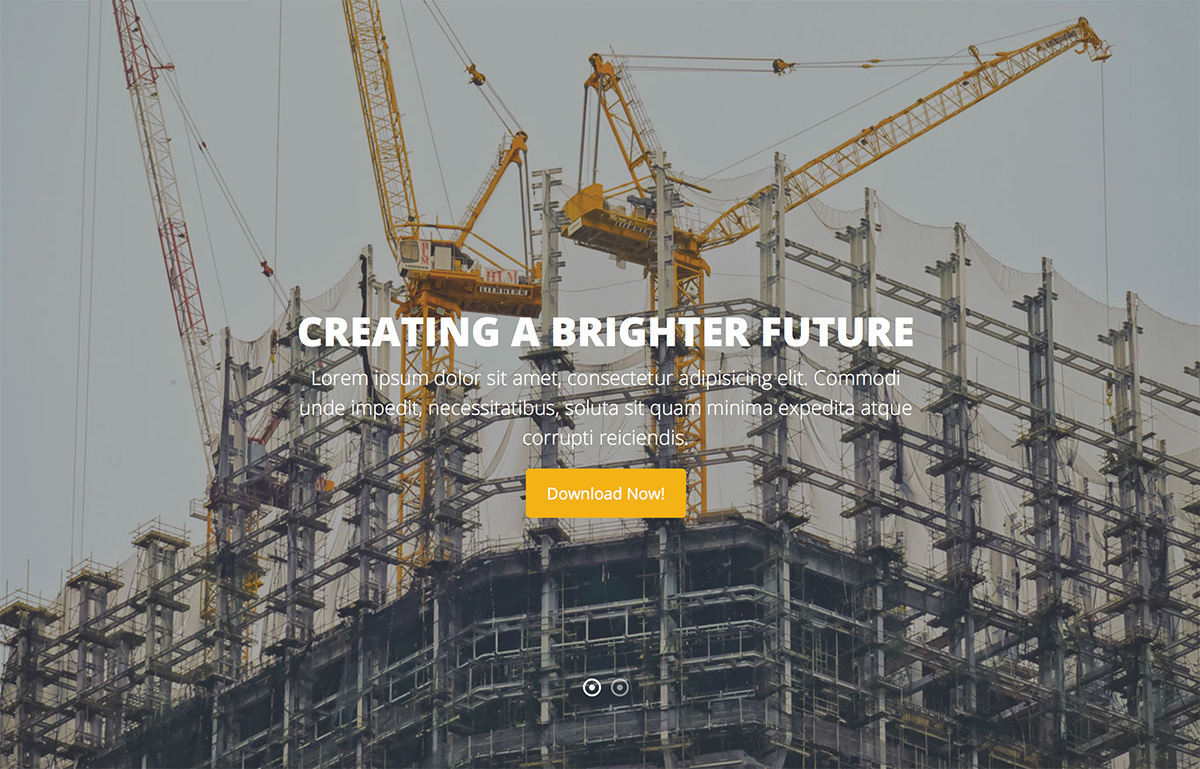 Professional HTML5 Template for Construction Company