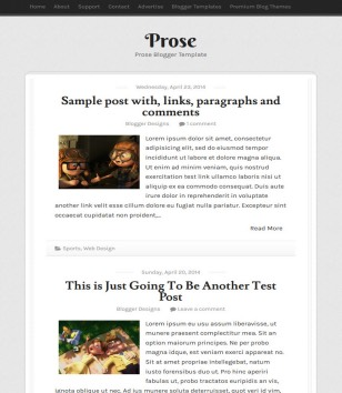 Prose Responsive Blogger Templates