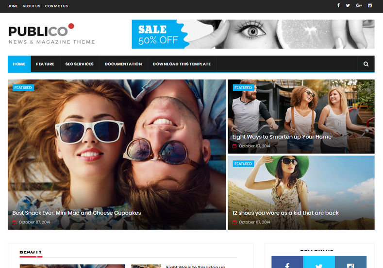 Publico Magazine Blogger Template is a fast loading responsive blogger theme and it is perfect for commercial and news personal blog