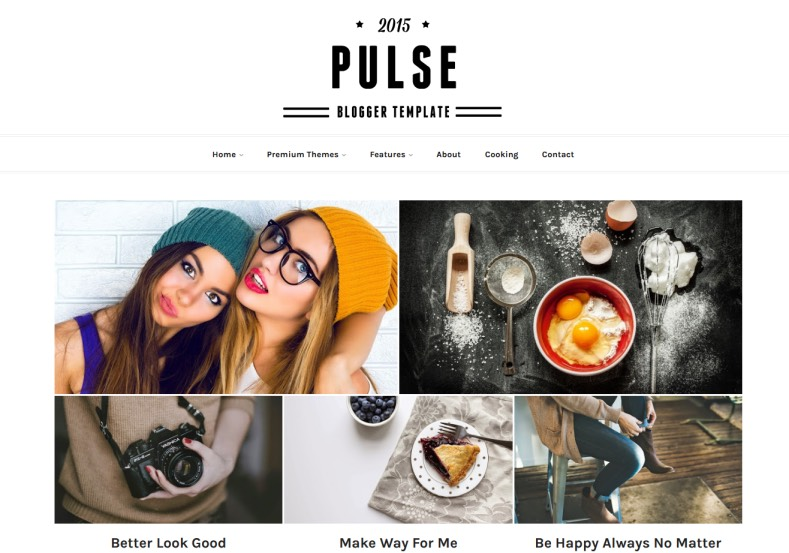 Pulse Responsive Blogger Template. Blogger Themes. Free Blogspot templates for your blogger blog. Best suitable for news blog templates. Best Ads ready blogspot templates help for add adsense ad code and easily showing adsence ads in your blog. Adapted from WordPress templates are converted from WordPress themes. It is help for take your rich. Blogger magazine template specially designed for magazine blogs. The writers can utilize this themes for take blog attractive to users. Elegant themes are more used themes in most of the blogs. Use minimalist blog templates for rich look for your blog. Free premium blogger themes means, themes authors release two types of themes. One is premium another one is free. Premium templates given for cost but free themes given for no cost. You no need pay From California, USA. $10 USD, or $20 USD and more. But premium buyers get more facilities from authors But free buyers. If you run game or other animation oriented blogs, and you can try with Anime blog templates. Today the world is fashion world. So girls involve to the criteria for make their life fashionable. So we provide fashion blogger themes for make your fashionable. News is most important concept of the world. Download news blogger templates for publishing online news. You can make your blog as online shopping store. Get Online shopping store blogger template to sell your product. Navigation is most important to users find correct place. Download drop down menu, page navigation menu, breadcrumb navigation menu and vertical dropdown menu blogspot themes for free. Google Guide to blogging tips and tricks for bloggers. Google bloggers can get blogspot trick and tips for bloggers. Blog templates portfolio professional blogspot themes, You can store your life moments with your blogs with personal pages templates. Video and movie blogs owners get amazing movie blog themes for their blogs. Business templates download. We publish blogger themes for photographers. Photographers easily share photos via photography blog themes. St valentine Christmas Halloween templates. Download Slideshow slider templates for free. Under construction coming soon custom blogspot template. Best beautiful high quality Custom layouts Blog templates from templateism, soratemplates, templatetrackers, simple, cute free premium professional unique designs blog themes blogspot themes. Seo ready portfolio anime fashion movie movies health custom layouts best download blogspot themes simple cute free premium professional unique designs xml html code html5.