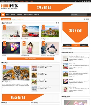 Punjab Press Responsive Blogger Templates
