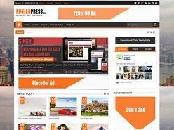 Punjab Press v4 Responsive Blogger Template