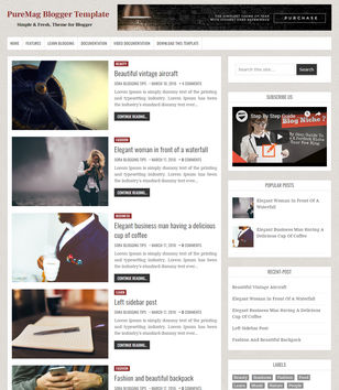 Blogger Templates 2019 • Top Best Free • New Templates