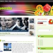 Queensha blogger template
