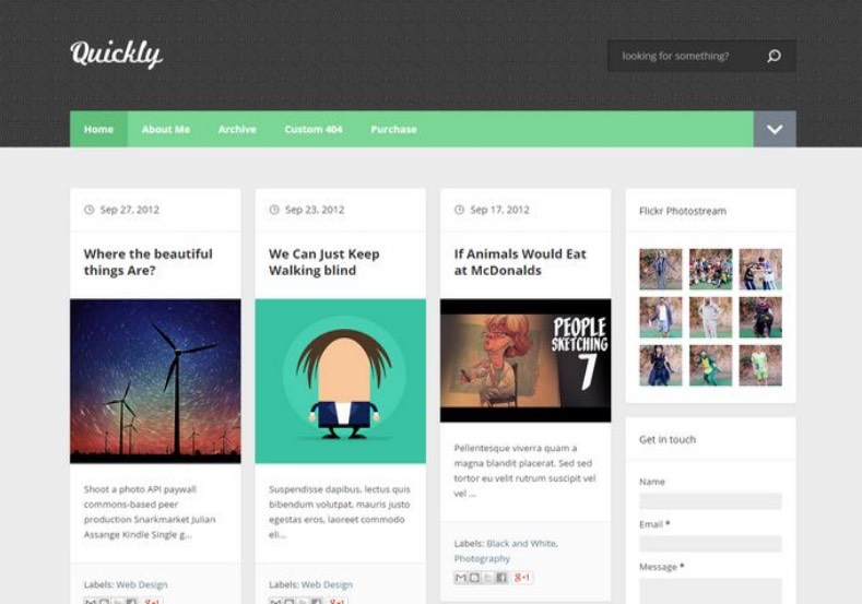 Quickly Blogger Template. Premium blogger template 2015