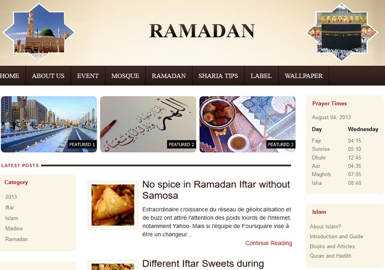 Ramadan Blogger Template free download 2018 magazine free blogger themes