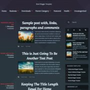 Ravel Responsive Blogger Templates
